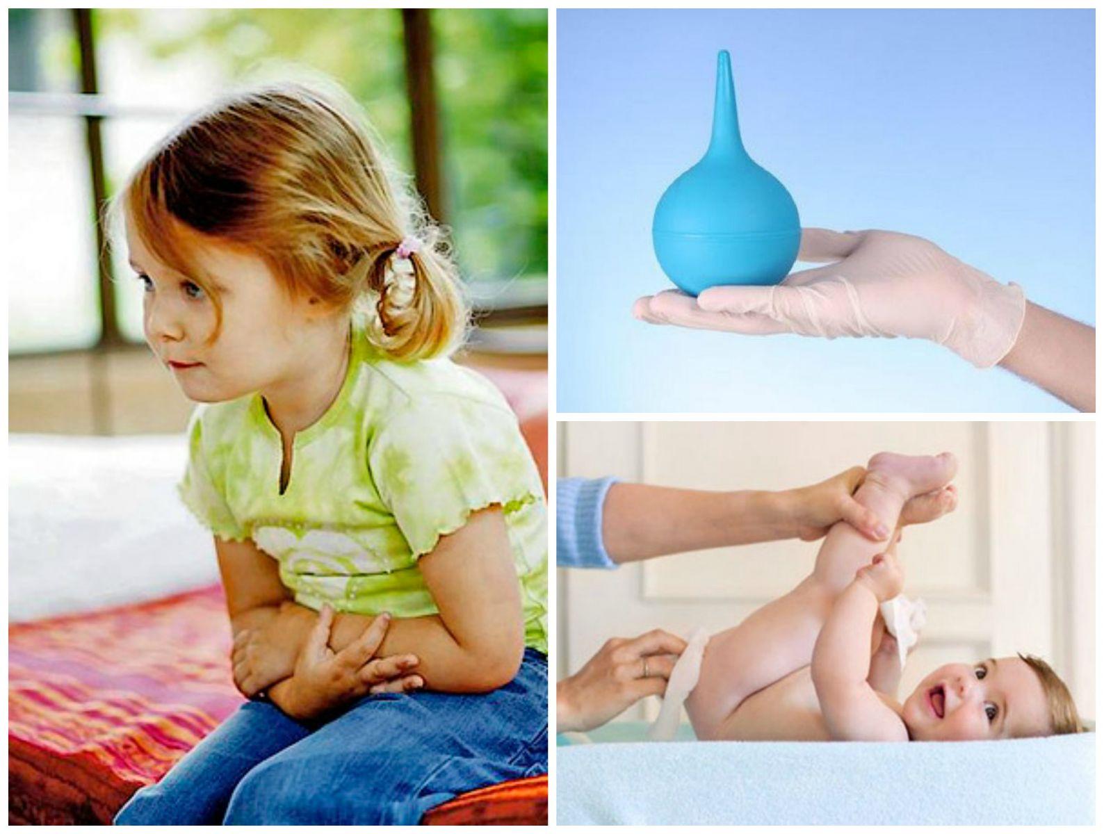 Клизма ребенку при запоре в домашних условиях