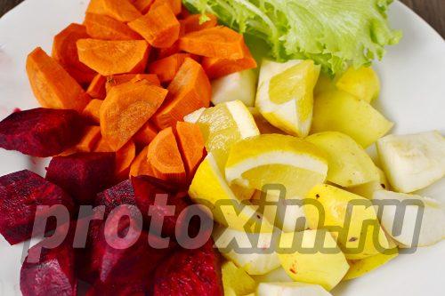 подготовить овощи и фрукты