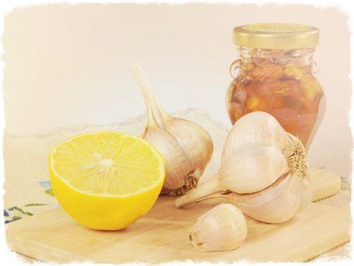 рецепт чеснок, лук, молоко, лимоны