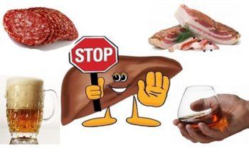 Запрещенные продукты для печени