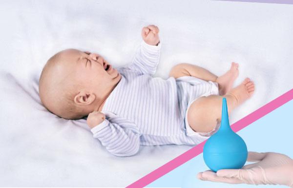Клизма для новорожденных при запорах в домашних условиях