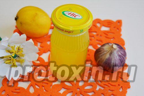 готовая чесночно-лимонная настойка